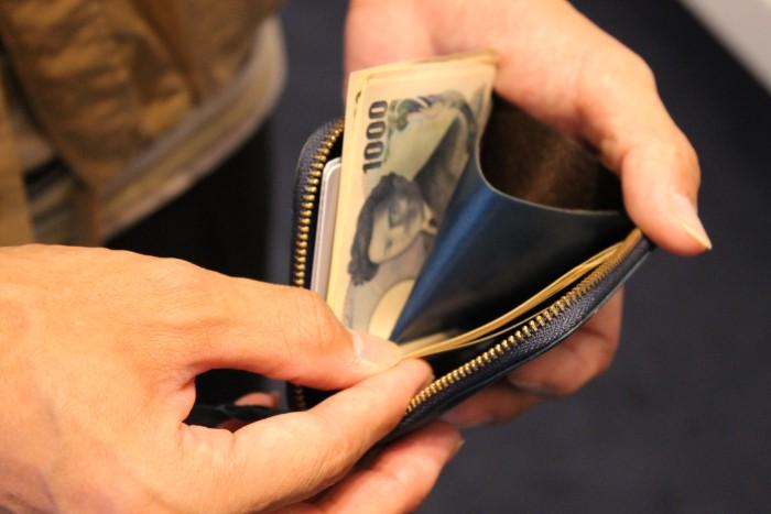L字ファスナー財布 Cramの収納のポイント