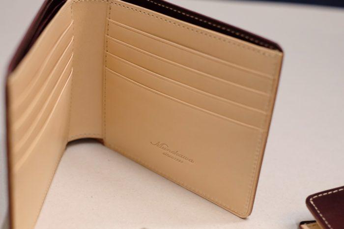 生成りの革のお財布