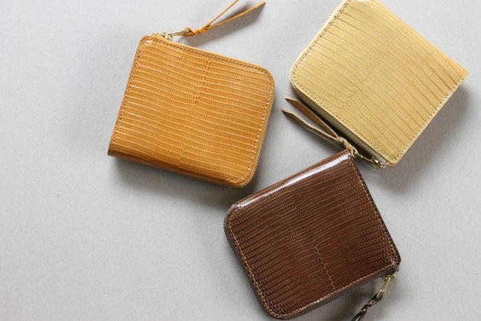 リザードの革で作る、L字ファスナー財布 Cram