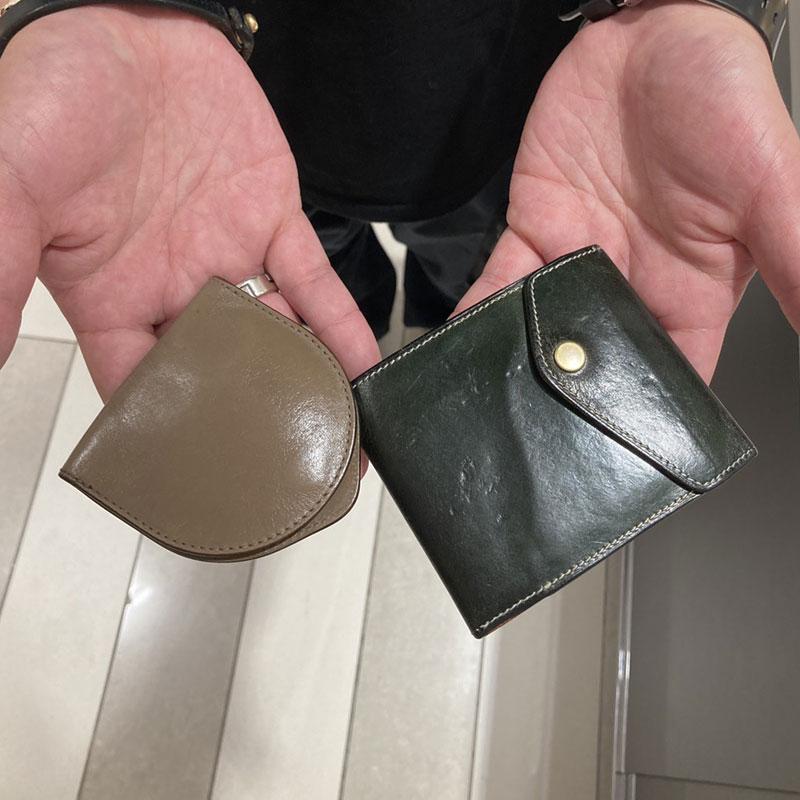 30代 男性 / マネークリップ型財布 Carriage ブルー コインケース Undo2 グレージュ