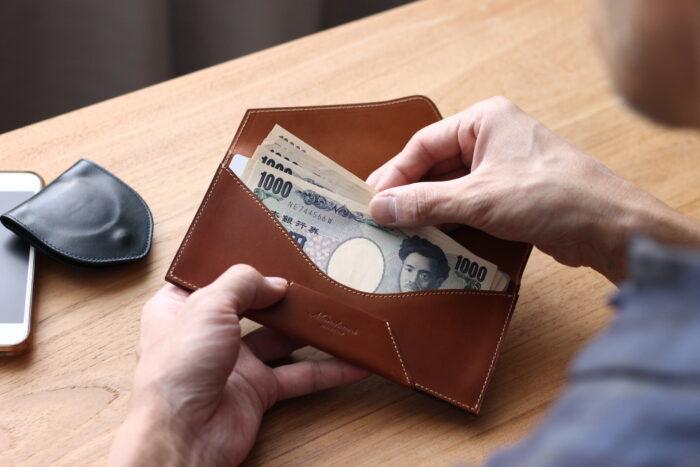 "Envelope long wallet""Encase"" 封筒型長財布"