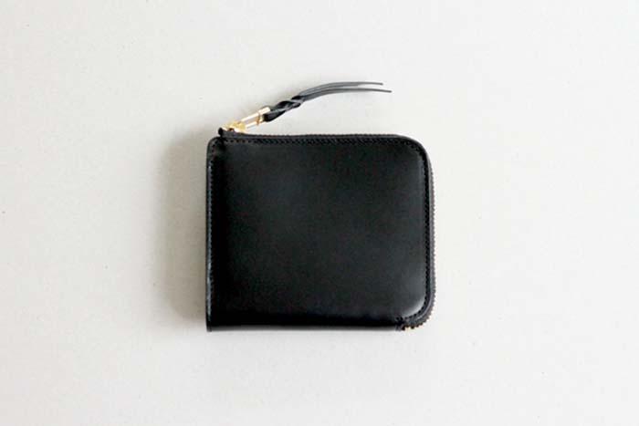 L字のファスナー財布